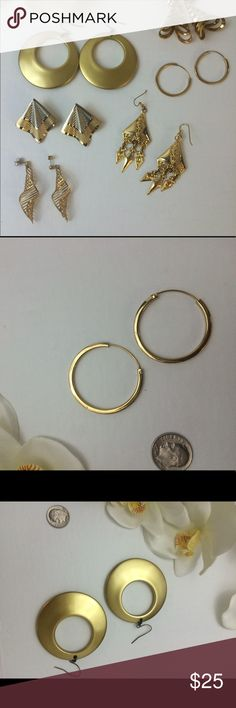 Earrings lot in gold, 6 beautiful earrings Earrings lot in gold, 6 beautiful earrings Jewelry Earrings
