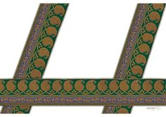 50 mm Indian Saree Borders - Jacquard lace # 002968  Droplet-shaped vegetable design and floral design, Golden Jacquard saree border for elegant Indian Saree Design.   This design is made by use of Blue, Gold, Rama Green color. Such saree border designs are trending in Bollywood movie and fashion event.  Visit www.lacxo.com more then 250 variety of laces, tapes, trims, ribbons, webbing and such fashion accessories. You can even mail us at info@lacxo.com for your custom saree border…