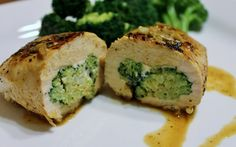 Cheese & Broccoli stuffed chicken