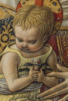 Carlo Crivelli: Madonna and Child, detail goldfinch] (1480) by petrus.agricola, via Flickr