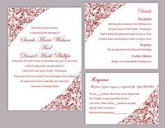 Lace Wedding Invitation Template Download Printable Invitations Boho ...