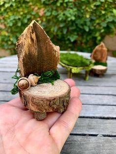 Fairy Garden Table and Chairs, woodland furniture, miniature fairy furniture - Garden Decor Succulent Gardening, Fairy Gardening, Flower Gardening, Fairy Village, Garden Table And Chairs, Fairy Furniture, Miniature Fairy Gardens, Garden Crafts, Fairy Houses