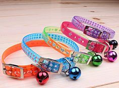 Free shipping fashion PU pet cat dog puppy collar with bell star heart style randomly colors 20pcs/lot