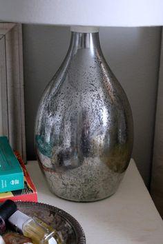 DIY Mercury Glass Lamps #diy #mercuryglass
