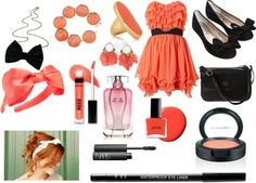 Coral/Black, created by monkey98718 on Polyvore