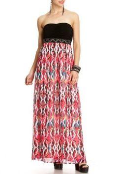 2b Paige Ikat Print Maxi Dress $44