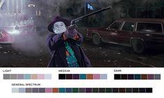 Paletas de cores de diversos filmes feitas por um designer gráfico americano.