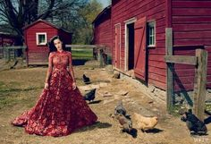 Farmer's Daughter: Katy Perry Covers Vogue In Haute Farm Couture photo Audrey Kitching's photos - Buzznet