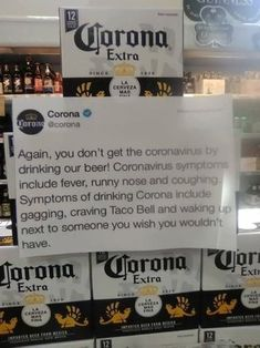 I! Again, you don't get the core fa drinking our beer! Coronaviru include fever, runny nose ano SI drinking Corona 2 A gagging, craving Taco Bell and wat next to someone you wish you would have. rd – popular memes on the site ifunny.co Haha Grappig, Grappige Citaten, Hilarisch, Sarcastische Humor, Grappige Dingen, Grappige Memes, Kronen, Lachend