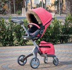 Neon pink winter kit for Stokke  Stokke Style Kit, Stokke Winter, Stokke, Stokke Xplory, Stokke Xplory V3, Stokke Xplory V4, Stokke Xplory V5, Stokke Crusi, Stokke Trailz, STOKKE SCOOT, sophietex, custom winter kit