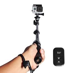 Extending Selfie Stick with Remote Housing Tripod Mount for GoPro Hero 1 2 3 34 Handheld Telescopic Selfportrait Monopod with Bluetooth Remote Shutter Adjustable Phone Holder for iPhone 6s 6 Plus 6S 6 5S Samsung Galaxy Note 5 S6 Edge S6 S5 S4 *** You can find out more details at the link of the image. Note: It's an affiliate link to Amazon