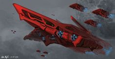 Red Rose Command Ship by PeterPrime on DeviantArt
