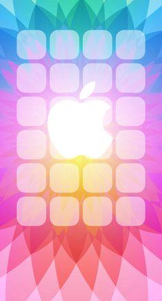 Apple logo pattern colorful shelf   wallpaper.sc iPhone6