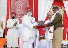 Shriji Arvind Singh Mewar of Udaipur, Chairman and Managing Trustee, Maharana of Mewar Charitable Foundation (MMCF) presenting Maharana Mewar Special Award to Best Police Station Sajjangarh, Dist. Banswara, Rajasthan  Venue: The Manek Chowk, The City Palace, Udaipur  Know more about awards - http://www.eternalmewar.in/collaboration/awards/index.aspx  #MMFAA2016 #MMFAA #MMCF #Awards #UdaipurAwards #EternalMewar #Mewar #Udaipur #Rajasthan #India