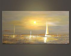 48 quot x 24 quot Gray Sailboat Painting Abstract Original Seascape Acrylic Painting by Osnat MADE-TO-ORDER 48 8243 x 24 8243 Gray Sailboat Painting Abstract Seascape Original Acrylic Painting by Osnat MADE-TO-ORDER Seascape Painting Modern Conte Contemporary Landscape, Contemporary Paintings, Modern Artwork, Seascape Paintings, Landscape Paintings, Acrylic Paintings, Art Paintings, Sailboat Painting, Boat Art