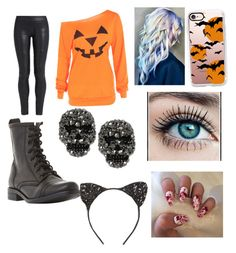 """""""🎃happy halloween🎃"""" by glittergirl144 on Polyvore featuring The Row, Steve Madden, Casetify, Cara and Betsey Johnson"""