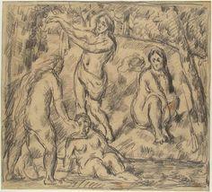 Study of Four Women Bathing, Paul Cézanne, c. 1879-1882 | Museum Boijmans Van Beuningen