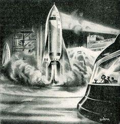 /by Klaus Bürgle #space #retro #illustration #1950