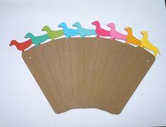 Dachshund Bookmarks  Set of 18 by HookedonArtsNCrafts on Etsy