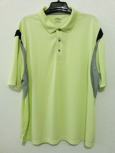 PGA Tour - Men's Golf Polo Shirt Size 3XL - Lime Color Knit Polyester Pullover with Short Sleeve #PGATour #GolfPoloRugby ..... Visit all of our online locations ..... (www.stores.eBay.com/variety-on-a-budget) ..... (www.amazon.com/shops/Variety-on-a-Budget) ..... (www.etsy.com/shop/VarietyonaBudget) ..... (www.bonanza.com/booths/VarietyonaBudget ) .....(www.facebook.com/VarietyonaBudgetOnlineShopping)