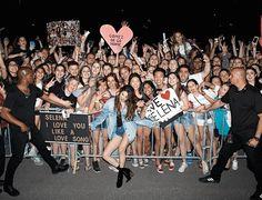 Selena Gomez denim shorts black boota Ottawa Revival tour