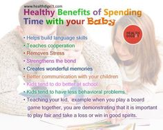 Healthy Benefits of spending time with your baby