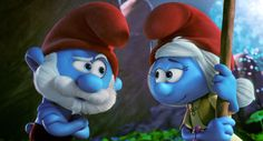 Papa Smurf talks to SmurfWillow, the leader of Smurfy Grove.  It's located in the Forbidden Forest.
