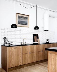 Dark, light, oak, maple, cherry cabinetry and wood kitchen cabinets painted white. CHECK PIN for Lots of Wood Kitchen Cabinets. Farmhouse Kitchen Cabinets, Kitchen Cabinetry, Kitchen Dining, Kitchen Decor, Wood Cabinets, Kitchen Ideas, Kitchen Shelves, Kitchen Wood, Kitchen Black