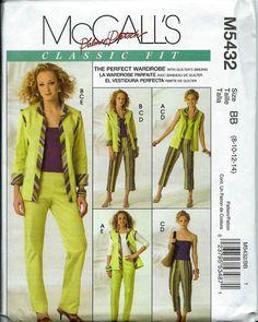 McCall's 5432 Classic Fit Misses Vest by DawnsDesignBoutique, $15.99