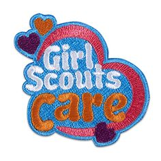 GIRL SCOUTS CARE HEART IRON-ON PATCH $2.50