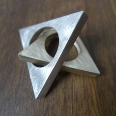 pyramid bronze ring by marmod8 (Etsy)