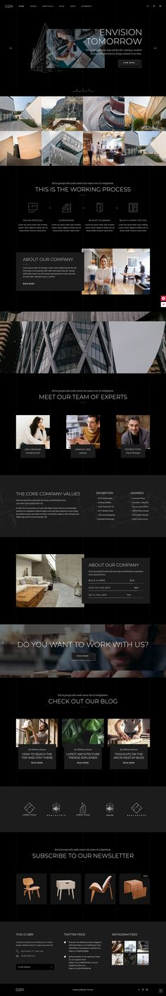 Buy Dør - Modern Architecture and Interior Design Theme by Mikado-Themes on ThemeForest. Here's a fresh architectural marvel from Mikado – Dør, a theme for modern architecture and interior design websites. Interior Design Themes, Interior Design Website, Site Design, Modern Interior Design, Ux Design Portfolio, Architecture Portfolio Layout, Interior Architecture, Landscape Architecture, Wordpress Theme