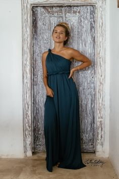 Whitestory & Friends own wrap dress in petrol w/ separate top. Perfect as a bridesmaid dress. Shipping worldwide Tailor Scissors, Let's Get Married, Suits You, Body Shapes, Different Styles, Style Guides, Red Carpet, Wrap Dress, Bridesmaid Dresses