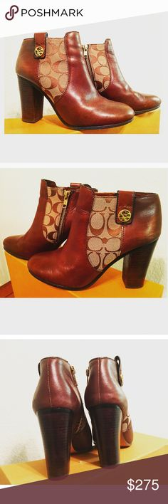 ✨Coach Boots ✨✨Brown Leather Coach Boots✨ %Authentic - In a very good condition Coach Shoes Ankle Boots & Booties