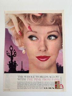 Glamour Gal MCM beauty Vintage Cosmetics Magazine Ads   Etsy