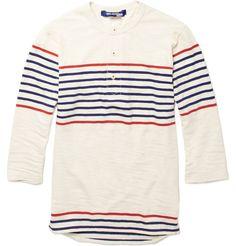 Junya Watanabe Striped Breton Henley T-Shirt