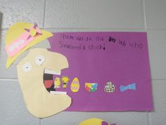 "A sequencing/art activity for the book, ""There Was an Old Lady Who Swallowed a Chick."""
