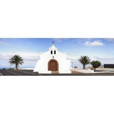 Chapel on a hill Tiagua Lanzarote Canary Islands Spain Canvas Art - Panoramic Images (36 x 12)