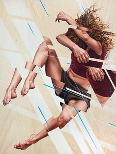 """Never See It Coming"" - James Bullough, oil on wood {figurative #surrealism art female torso painting} jamesbullough.com"