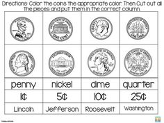 1000 images about money on pinterest coins money worksheets and the coin. Black Bedroom Furniture Sets. Home Design Ideas
