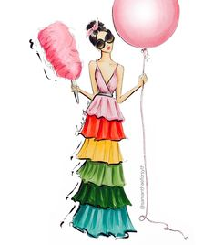 Alice and Olivia fashion illustration by Samantha E. Forsyth. @samanthaeforsyth shop www.samanthaeforsythny.etsy.com| Be Inspirational ❥|Mz. Manerz: Being well dressed is a beautiful form of confidence, happiness & politeness