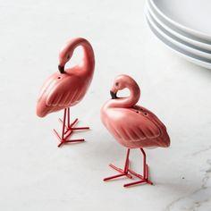 Flamingo Salt + Pepper Shakers