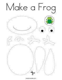 Make a Frog Coloring Page - Twisty Noodle Frog Theme Preschool, Frog Activities, Preschool Learning Activities, Preschool Lessons, Preschool Activities, Pond Crafts, Frog Crafts, Alphabet Crafts, Letter A Crafts