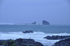 형제섬 앞 파도가 거칠다..모슬포에서 20130715
