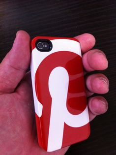 Pinterest case for iPhone.  Saw this IRL via @Tracy Chou ... maybe they'll save one for me.