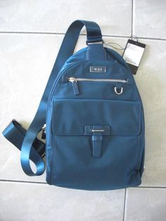 e2dccdac21c Tumi Voyageur Brive Sling Backpack in Blue Nylon Leather Trim NWT  225   Tumi  Backpack