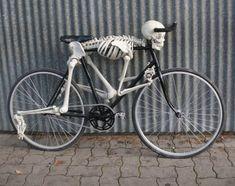 Creepy Bone Skeleton Spider Bicycle Handlebar Bike Bell