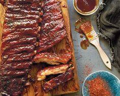 Championship Glazed Ribs Recipe — Let's barbecue! Pork Spare Ribs, Pork Ribs, Barbecue Ribs, Bbq Pork, Rib Recipes, Cooking Recipes, Cooking Ideas, Yummy Recipes, Prime Rib