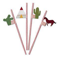 Wild West Party Straws