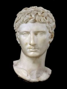 "Born Gaius Octavius Thurinus, he was adopted posthumously by his great-uncle Gaius Julius Caesar in 44 BC via his last will and testament, and between then and 27 BC was officially named Gaius Julius Caesar. In 27 BC the Senate awarded him the honorific Augustus (""the revered one""), and thus consequently he was Gaius Julius Caesar Augustus."